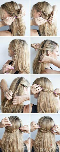 Recogido con trenzas #hair #pelo #peinado #hair #hairstyles #waves #beach #boho #style #fashion #braids #heidi #crown