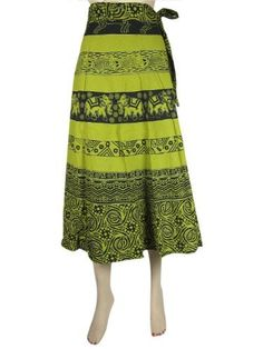 Women Wrap Skirt, Pear Green Elephant Floral Print Gypsy Cotton Wrap Around Skirts Mogul Interior,http://www.amazon.com/dp/B00CDLOO5G/ref=cm_sw_r_pi_dp_49FDrb1ED21F4C84