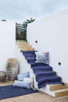 Blue Rugs #OutdoorSpace #BohoBeachBungalow