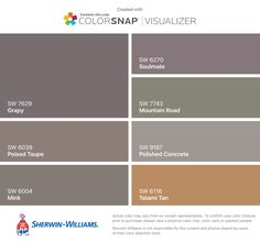 I Found These Colors With ColorSnapR Visualizer For IPhone By Sherwin Williams Grapy