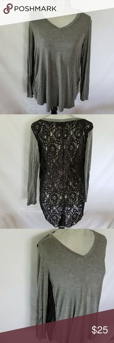 Apt. 9 lace back tee Incredibly comfy long sleeve tee. Entire back is lace. Perfect condition Apt. 9 Tops Tees - Long Sleeve