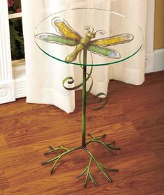 Metal and Glass Dragonfly Accent Table Dragonfly Decor, Dragonfly Jewelry, Manzanita Tree, Metal Tree Wall Art, Metal Candle Holders, Tree Roots, Tree Art, Wall Sculptures, Metal Walls