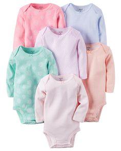 Baby Girl 6-Pack Original Bodysuits | Carters.com