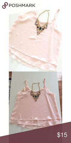 • Shinestar • Pale pink • Double layered • Adjustable straps • Excellent condition • 100% Polyester • Hits right at the hips • NO TRADES/HOLDS • All reasonable offers accepted • Purchased from local boutique • Francesca's Collections Tops