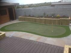 Back garden Putting Green Back Gardens, Lawn, Grass, Deck, Gallery, Outdoor Decor, Grasses, Herb, Decor