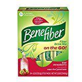 Benefiber Kiwi-Strawberry Taste-Free, Sugar-Free Fiber Supplement Stick Packs for Digestive Health, 24 Count, 2 Pack (48 Count Total)