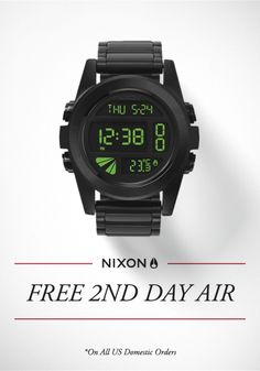 21e2144899e  Nixon  Get It By Christmas. Ship your order 2nd Day Air