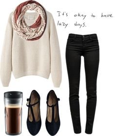 Oh no. Lazy? This looks pretty put-together for me! / Fall wear.