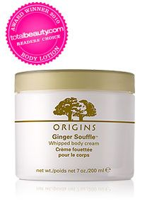 Love the whole Origins Ginger line. Especially this body cream--it leaves skin so soft.