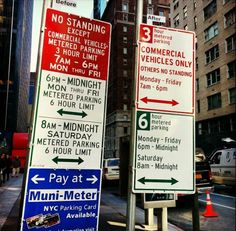 Improved NYC DOT parking signs.