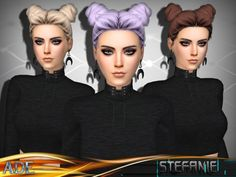 Stefanie hair without bangs by Ade_Darma at TSR • Sims 4 Updates