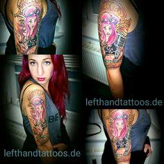 #tattoo #tattoos #ink #inked #anchor #ancora #old school #lifestyle #johnpipporeremi #instaink #instagram #pinterest #lefthandtattoos #Rheinberg #skinwork #art #kunst #arte #johnpipporeremi #tattoogermany #tattoodeutschland #nrw #pinup