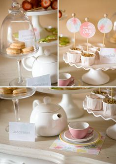 Confetti Sunshine: Mothers Day Tea Party : Free Printables - love macarons - great idea for a mothers day party Party Printables, Free Printables, Fancy Tea Cups, Diy Tea Bags, Pastel Party, Tea Party Bridal Shower, 4th Birthday Parties, Vintage Tea, High Tea
