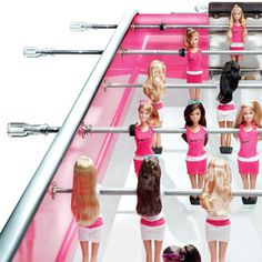Limited edition Barbie foosball table, $25,000!! Love me sum foosball...now, gotta win the lottery ;)