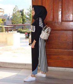 Modern Hijab Fashion, Muslim Women Fashion, Abaya Fashion, Fashion Outfits, Long Skirt Hijab, Hijab Dress, Hijab Wear, Casual Hijab Outfit, Hijab Chic
