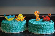 Sea Creatures Baby Shower Cake