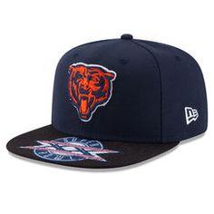 Men's Chicago Bears New Era Navy Super Bowl XX On The Fifty Jumbo Vize Original Fit 9FIFTY Adjustable Hat