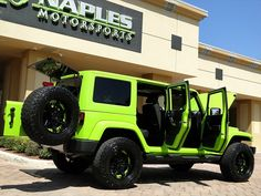 2012 Jeep Wrangler Unlimited Sahara for sale in Naples, FL Jeep Wrangler Lifted, Jeep Wranglers, Jeep Jeep, Wrangler Unlimited Sahara, Jeep Wrangler Unlimited, Lime Green Jeep, Lifted Ford Trucks, Lifted Jeeps, Jeep Wallpaper