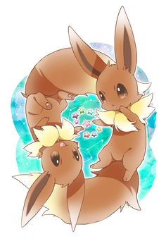 Two eevees.