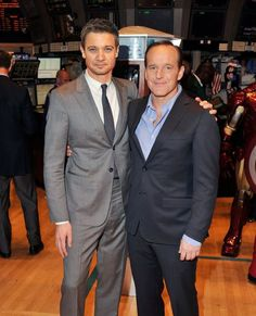 Hawkeye and Agent Coulson :)