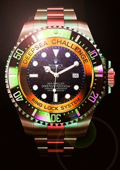 To know more about ROLEX DeepSea Challenge Sea-Dweller visit Sumally, a social network that gathers together all the wanted things in the world! Featuring over other ROLEX items too! Rolex Datejust, Rolex Deepsea, Rolex Gmt, Rolex Watches For Men, Luxury Watches For Men, Black Watches, Ladies Watches, Wrist Watches, Men's Watches
