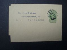 Edward VII, 1/2d pre-paid newspaper wrapper posted to Wandsbek, Hamburg   eBay