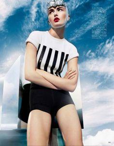 Andrea Diaconu by Sølve Sundsbø for Vogue Japan (March 2013)
