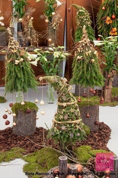 ◘ VÁNOČNÍ TREND 2013 ◘ ZELENÝ SVĚT ◘ ähnliche tolle Projekte und Ideen wie im Bild vorgestellt findest du auch in unserem Magazin . Christmas Planters, Christmas Arrangements, Outdoor Christmas, Rustic Christmas, Christmas Tree Decorations, Christmas Wreaths, Christmas Ornaments, Table Decorations, Noel Christmas