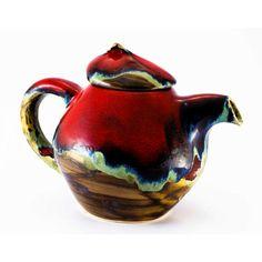Coffee pot teapot kettle pottery red pot ceramic door Artmika