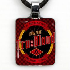 True Blood ----- Stainless Steel Waterproof Charm Pendant Necklace