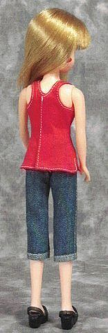 """How to make handmade clothes """"Papupepo"""" (Rika) of a single doll tank top"""