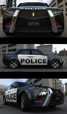E7, cop car from the Atlanta-based upstart Carbon Motors.  For cops by cops.
