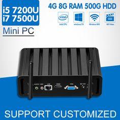 Intel Core i7 7500U Mini PC 7th Gen i5 7200U Mini Office Computer Windows 10 Ubuntu 4K HTPC Media Player Kaby Lake Minipc Nuc
