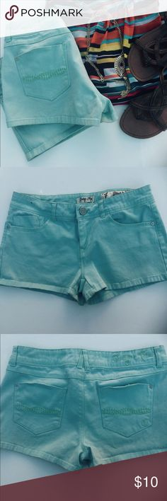 Light blue shorts Light turquoise blue by Indigo Rain. Very soft and comfy fit. EUC no stains or tears. Show off them legs before summer passes you by!! Indigo Rain Shorts