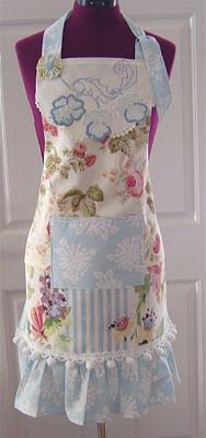 Aprons from vintage linens.