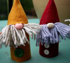 Adventures of a Nervous Knitter: Photo Tutorial: Felt Gnomes