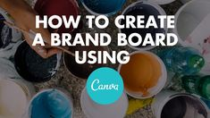 Needing a DIY logo design option for your virtual assistant business? Check out this DIY resource and learn how to make your own logo using Canva! Make Your Own Logo, Create A Logo, Marketing Logo, Was Ist Pinterest, Brand Board, Create Website, Creating A Brand, Virtual Assistant, Brand You