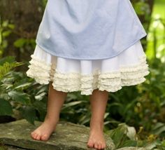 White petticoat with offwhite ruffles by TheMeasure on Etsy, $49.00
