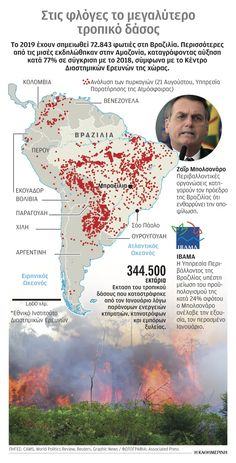 NotisRigas: Στις φλόγες ο Αμαζόνιος Infographics, War, Blog, Movie Posters, Image, Infographic, Film Poster, Blogging, Info Graphics