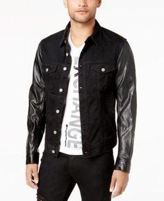 Armani Exchange Men's Lightning Bolt Stretch Jacket, Created for Macy's - Black XXL