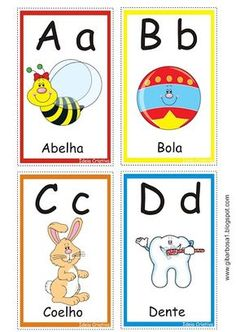 Ideia Criativa - Gi Barbosa Educação Infantil: Cartas Letras do Alfabeto para Jogo Pedagógico