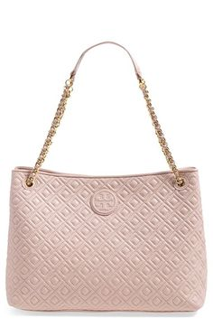 Tory Burch 'Marion' Diamond Quilted Leather Tote available at #Nordstrom