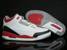 buy online 2e8c6 847de Authentic Cheap Air Jordan 3 Amazing white red shoe for jordan retro 3 iii  shoe basketball