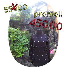collar dotty black. Harga promo ! Size freesize fit to L (rajut tebal) LD fit to 110cm Price 45000 For more info & order, please contact us Line : annisanurulg WA : 088806906942 (only WA) Bbm : 7FA6609B  Reseller and dropshiping are very welcome  Buy 3pcs, get disc 5000/pcs Thankyou  Shipping in the world .   #rajut #baju #atasan #pakaian #bajuwanita #sweater #dropship #reseller #bajumurah #onlineshopjogja #rajutan #knit #knitwear #jualan #jualanku #local #localbrand #bajulokal #sweaterrajut…