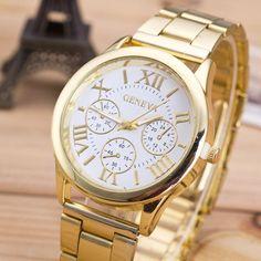 $2.32 (Buy here: https://alitems.com/g/1e8d114494ebda23ff8b16525dc3e8/?i=5&ulp=https%3A%2F%2Fwww.aliexpress.com%2Fitem%2F2015-Fashion-Casual-Womens-Girl-Watch-Top-brand-Roman-Numerals-Stainless-Steel-Analog-Gold-Quartz-Watches%2F32466912077.html ) 2016 Fashion Casual clock Womens Girl Watch Top brand Roman Numerals Stainless Steel  Analog Gold Quartz Wrist watches Relogio for just $2.32