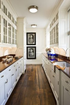 "Not the kitchen, but the butler's pantry at the historic ""Boxwood"" estate in Nashville, TN, renovated and restored by Gil Schafer and decorated by David Netto."