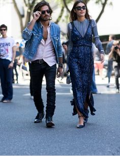 Patricia Manfield & Giotto Calendoli killing it in blue