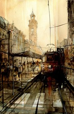 Tony Belobrajdic   WATERCOLOR   Melbourne-728