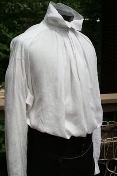$195 Mens Regency/ Federalist Era Shirt by TheNeedleworkers on Etsy