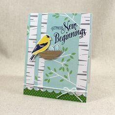 New Beginnings Card by Lizzie Jones for Papertrey Ink (February 2016)